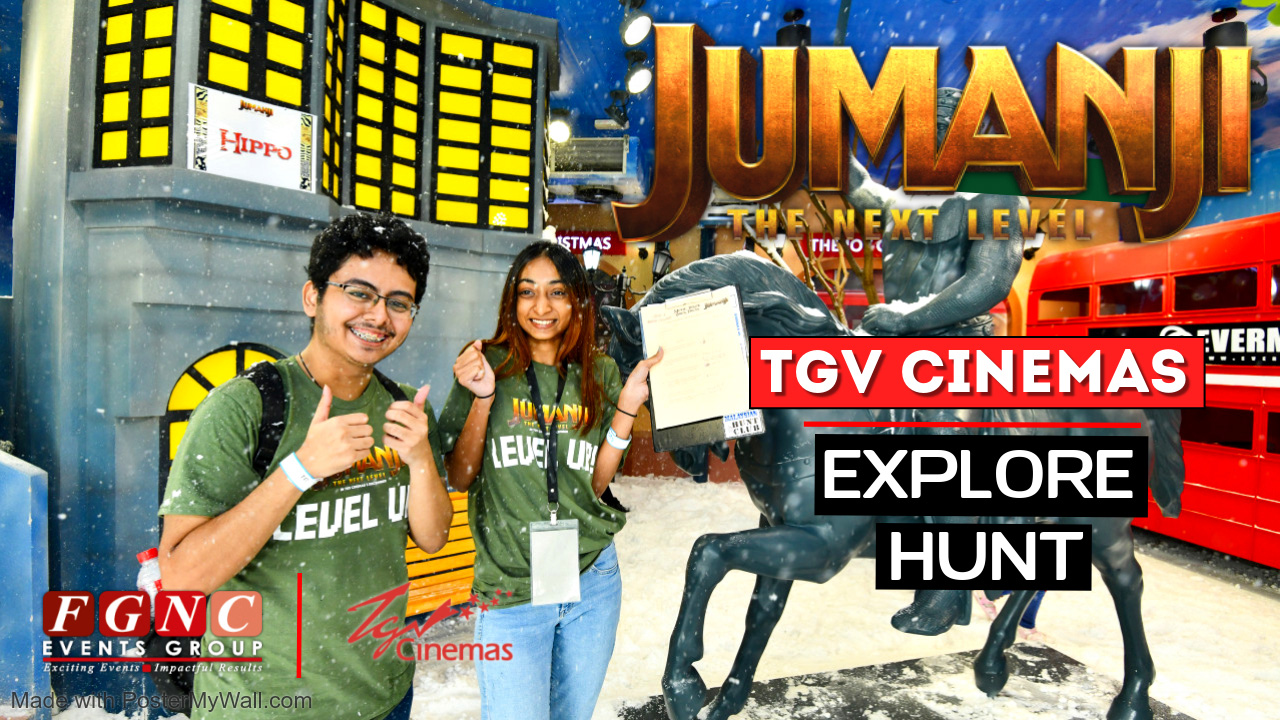 Jumanji TGV Cinemas Explore Hunt FGNC
